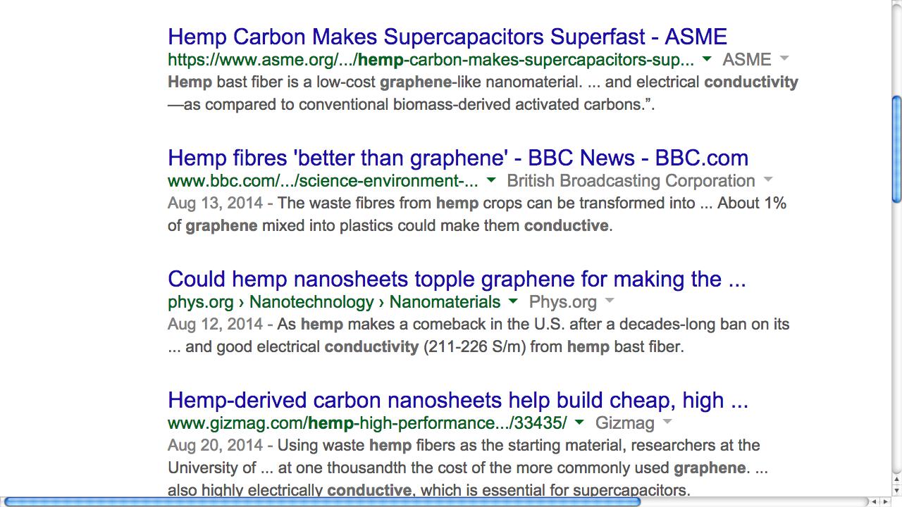 HEMP 1,000 x's cheaper than Graphene Supercapacitors to replace