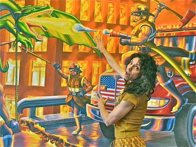Urban Drilling Dragon named Chesa Pete keeps our firemen busy