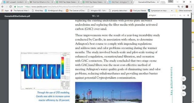 city of arlington water ozone info 2