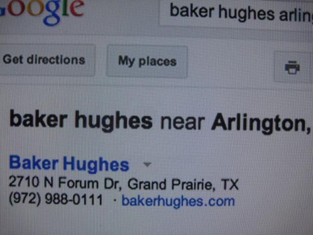 Baker Hughes, Grand Prairie TX pic worth a thousand words