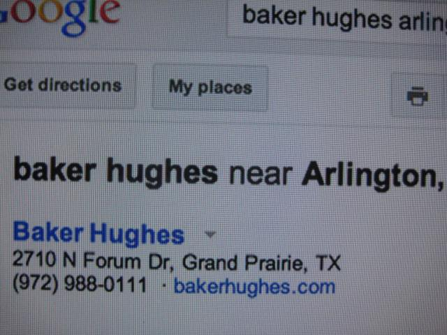 Baker Hughes, Grand Prairie TX pic worth a thousand words
