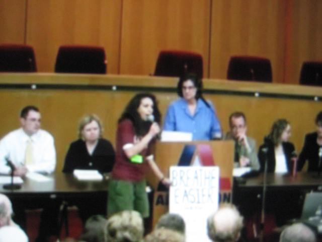 Kim Feil (me) speaking at a public TCEQ hearing