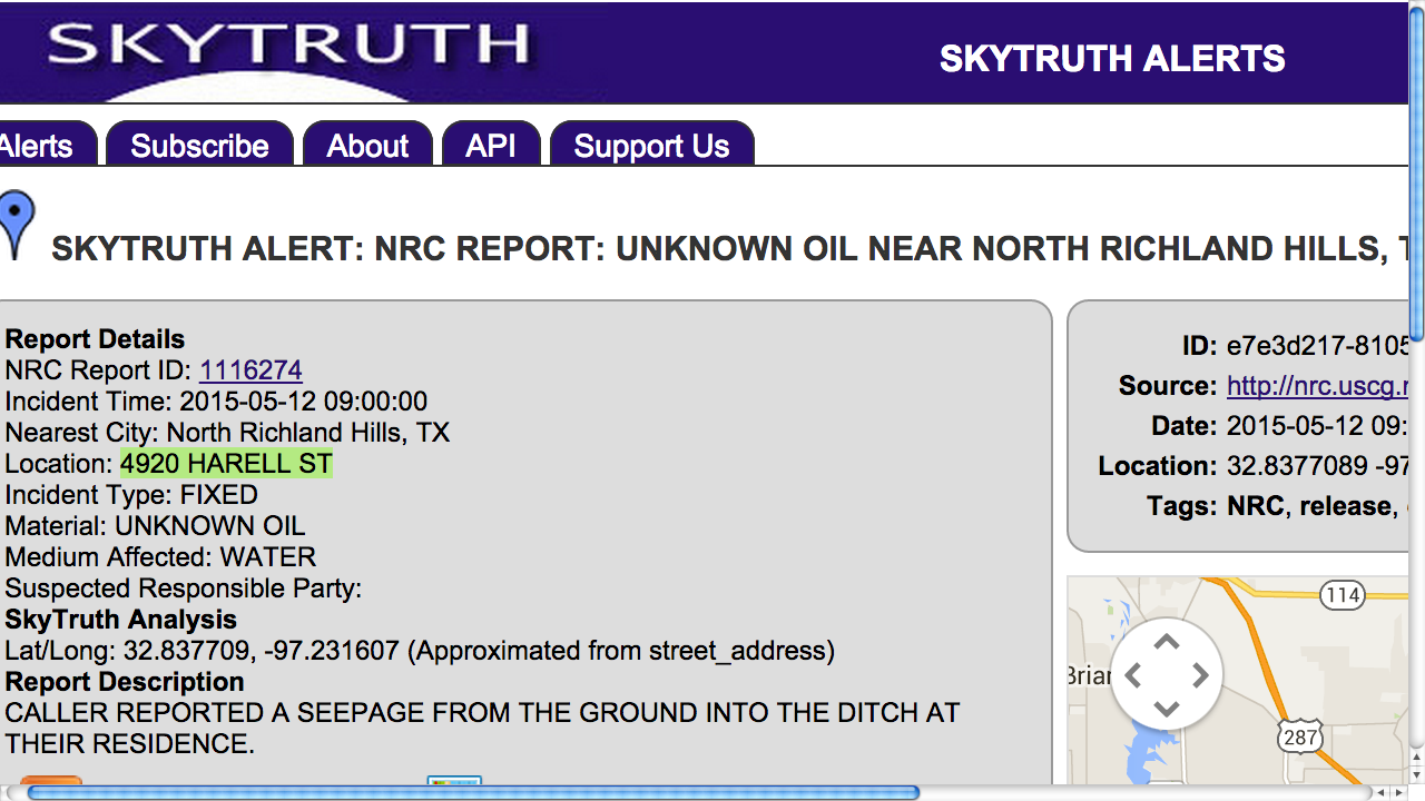 Striking Oil (rather) Unknown Ground Seepage at NRH