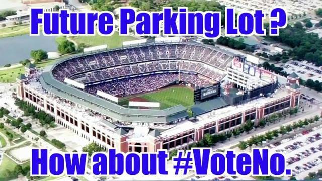 vote no to future parking lot