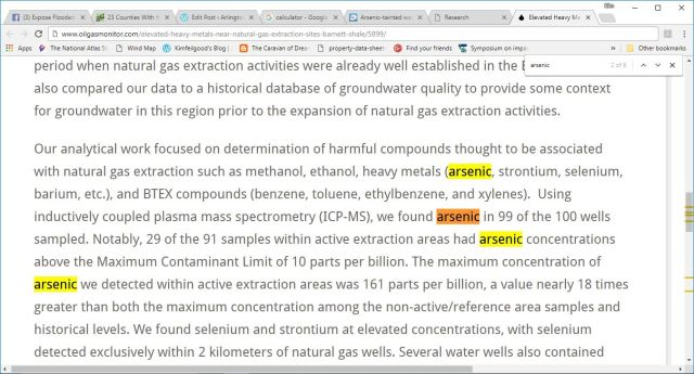 arsenic uta clear