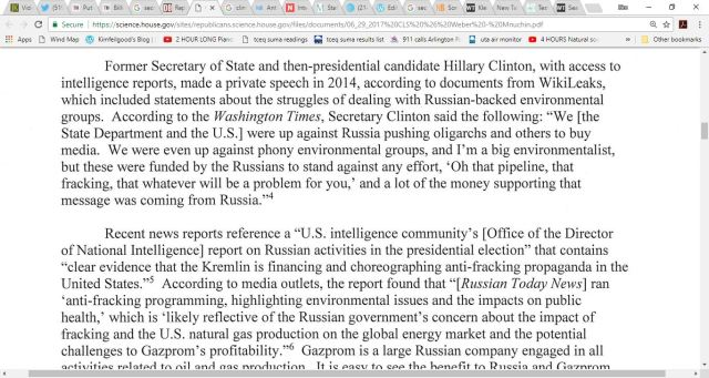 russia hillary fracking
