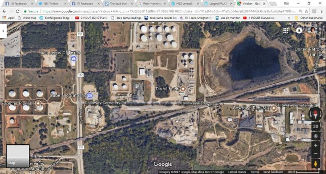 Things that do not go well with co-existing: fracking and storage tanks....pic is north of Viridian