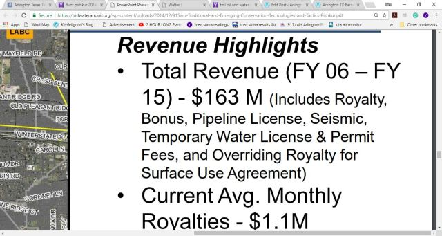arlington revenue highlights buzz fracking