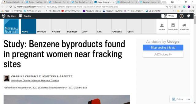 benzene pregnant women fracking.JPG