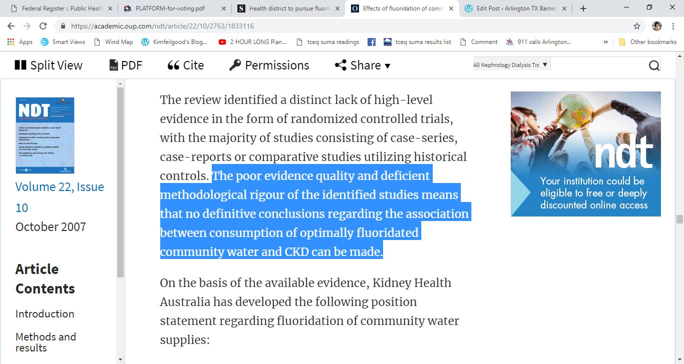 inconclusice ckd fluoride study