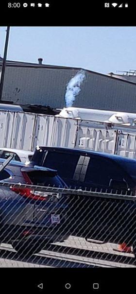 ft worth tanker spewing at election center